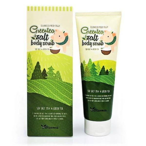 Скраб для тела с экстрактом зеленого чая Elizavecca Greentea Salt Body Scrub – 300 гр