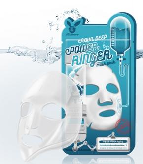 Маска для лица тканевая Elizavecca Deep Power Ring Mask Pack - Aqua