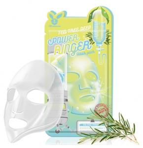 Маска для лица тканевая Elizavecca Deep Power Ring Mask Pack - Tea Tree